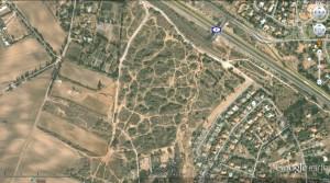 תצלום לוויין של חולות אביחיל