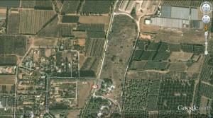 צילום לוויין של שמורת ביתן אהרון וסביבתה