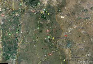 מפת תחנות ההשתלמות בצפון הגולן