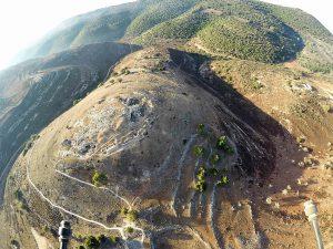 גבעת יודפת העתיקה. צילום מרחפן . יגאל צור ©.