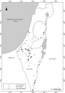 מפת התפוצה של אתרי הינבוט הזר בישראל