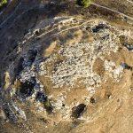 כיפת הנארי בראש גבעת יודפת העתיקה. צילום מרחפן: יגאל צור ©