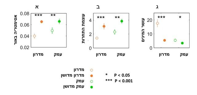 אסימטריות האור ודחיקה תחרותית של צמחים - איור 3