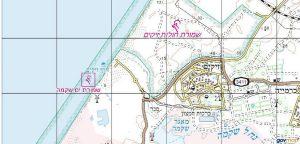 מפת שמורת חולות זיקים. באישור אתר המפות הממשלתי http://www.govmap.gov.il/