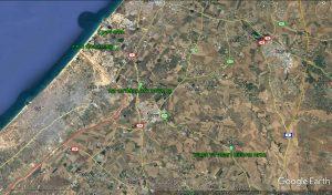 מפת תחנות דרום פלשת