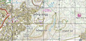 הר דבורה והר כסולות. באישור אתר המפות הממשלתי http://www.govmap.gov.il/
