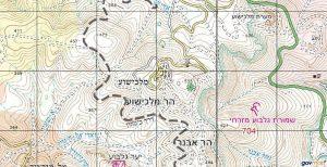 הר מלכישוע. באישור אתר המפות הממשלתי http://www.govmap.gov.il/