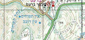 מפת ראש נחל דובב. מתוך אתר מפות הממשלתי http://www.govmap.gov.il/home