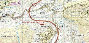 עמק שעורים - מפת מיקום ומראה כללי. - ברשות שירות המפות הממשלתי.