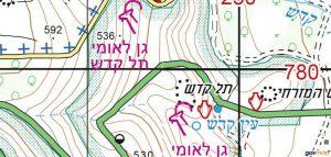 מפת אזור תל קדש. מתוך אתר מפות הממשלתי http://www.govmap.gov.il/home
