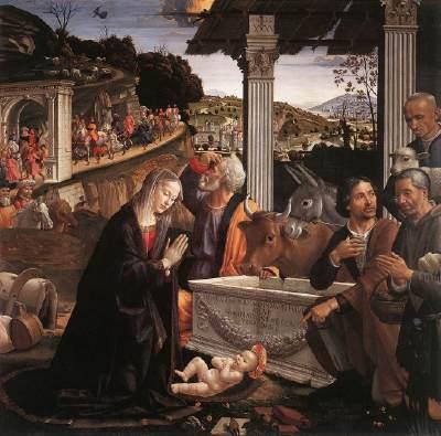 הערצת הרועים (Domenico Ghirlandaio (1482-85