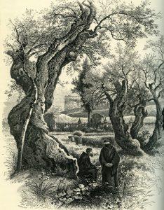 גת שמנים. תחריט עץ. Lane-Pools, Stenley 1880