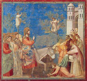 כניסת ישוע לירושלים (ג'וטו די בונונה 1305-1303)