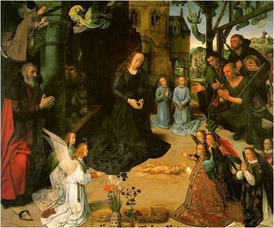 הערצת הרועים (Hugo Van der Goes 1475)