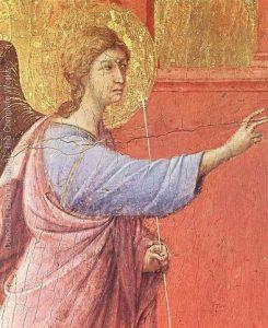פרט מתוך הבשורה של דוצ'ו (1308)
