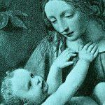 מריה וישוע העולל בזרועותיה. ברקערקפת פורחת (מקור לא ידוע) לחצו להגדלה