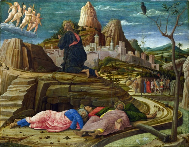 היגון בגן - The Agony in the Garden Andrea Mantegna 1455