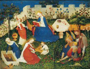 "Mary Garden או ""גן העדן הקטן"" (צייר גרמני לא ידוע. 1410)"