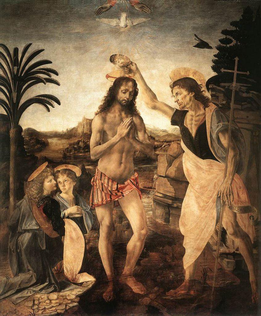 הטבילה של ישוע ( Andrea del Verrocchio 1475-1472)