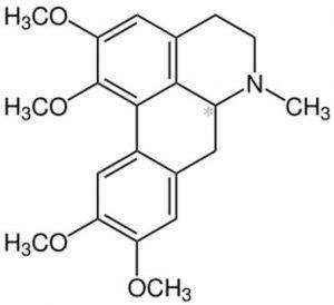 מולקולת גלאוצין C21H25NO4