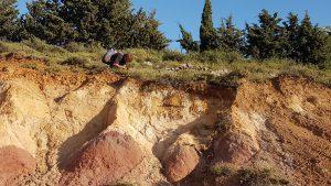 חתך אבן החול בהר קטע. צילמה: טליה אורון©