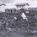 תחנת הרכבת בטול כרם בימי מלחמת העולם ה-I (מהאינטרנט)