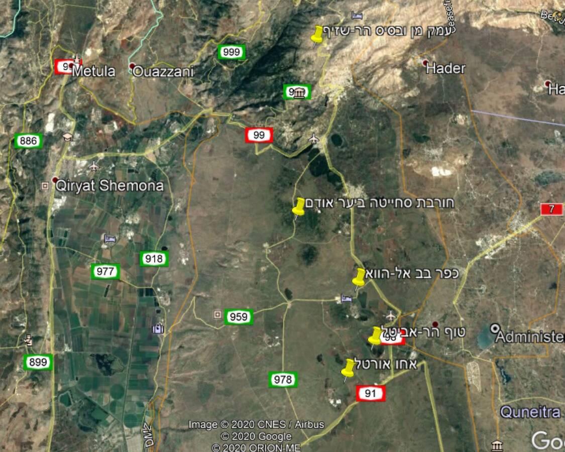 מפת גוגל של תחנות ההשתלמות